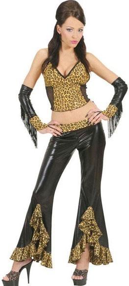 Leoparden 80er Jahre Party Top