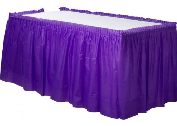 Tischumrandung Mila violett 4,26m x 73cm