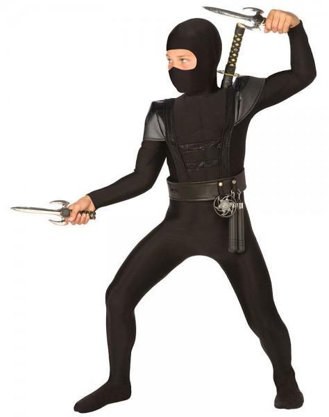 Black ninja warrior costume for children