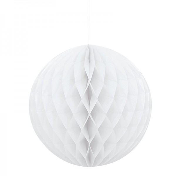 Decorative honeycomb ball honey white 20cm
