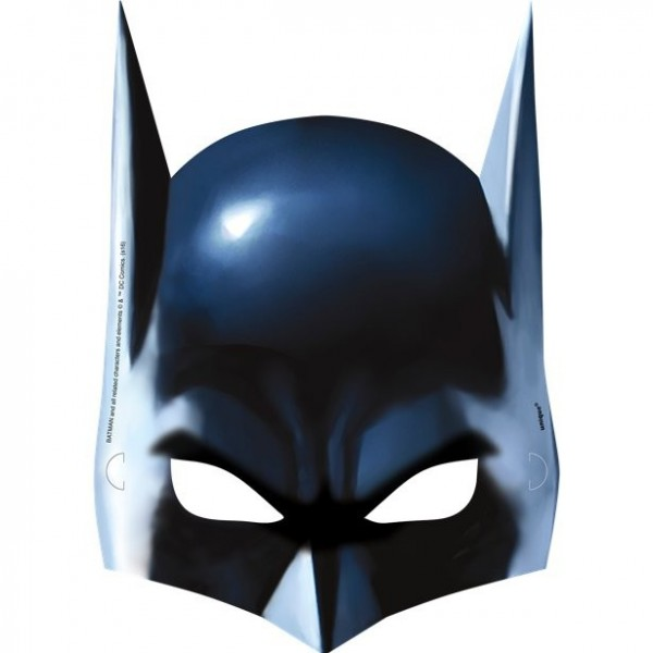 8 Batman Hero cardboard masks 22.8cm