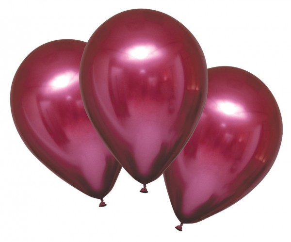6 błyszczących balonów satynowych jeżynowych 27,5cm