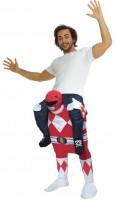 Rotes Power Ranger Huckepack Kostüm