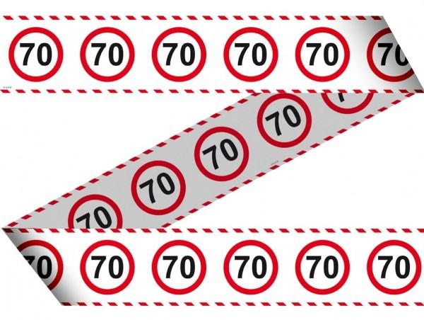 Verkehrsschild 70 Absperrband 15m