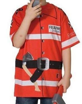 Brandweerman shirt voor kinderen