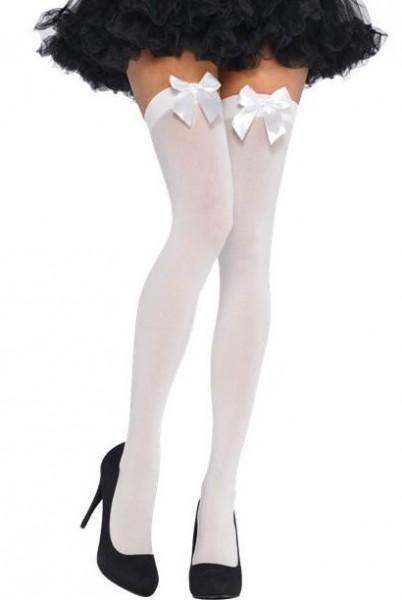 Weiße Schleifchen Overknees Alice