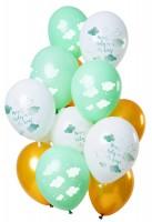 12 Latexballons Babyparty unisex