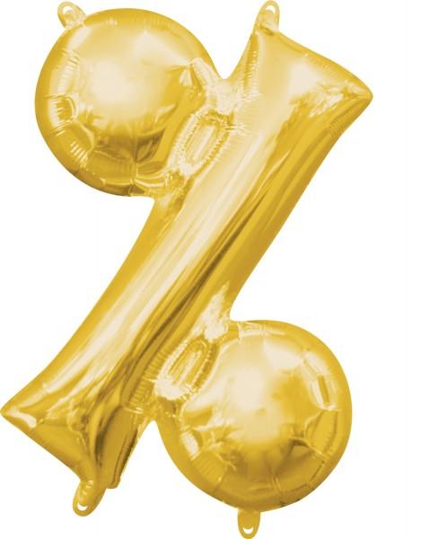 Mini Folienballon Symbol % gold 35cm