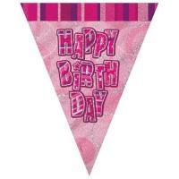 Sparkling Happy Birthday Wimpelkette