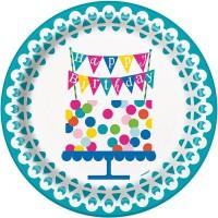 8 Happy Birthday Pappteller Party Night 23cm
