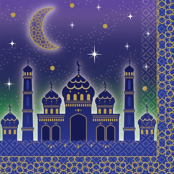 16 serviettes Eid Mubarak 33 x 33cm