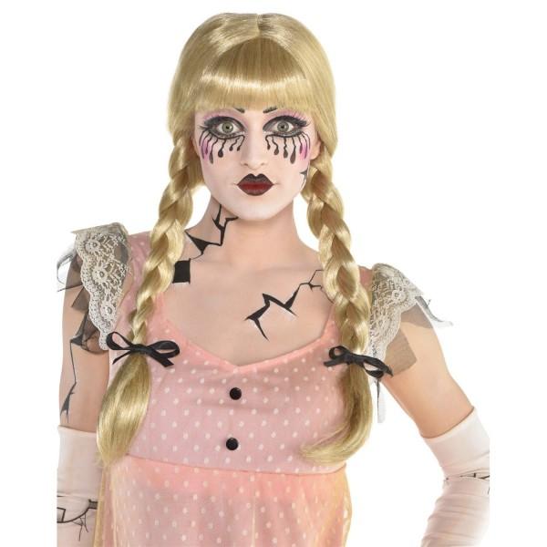 Blond dukke paryk Clara