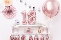 Metallic Zahlenballon 8 roségold 35cm