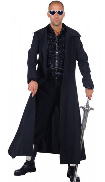 Black long coat men's costume