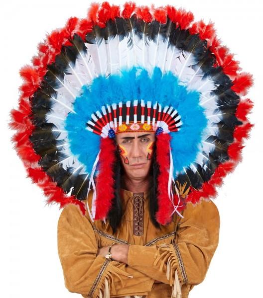 Indianer Feder-Kopfschmuck Häuptling
