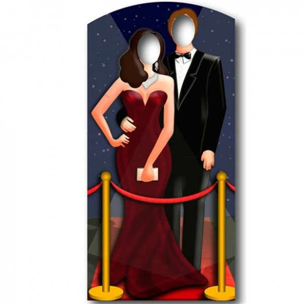 Red Carpet Hollywood Photo Wall 1.8m