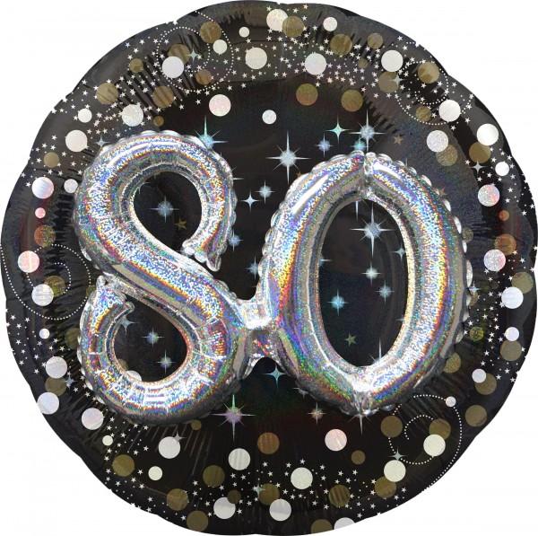 Golden 80th Birthday Folienballon 91cm