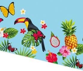 Nappe de fête hawaïenne Toucan 1,8 x 1,3 m