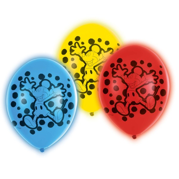 5 LED Mickey Mouse balloons 28cm