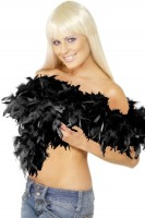 Boa plume Tiffy noir 180cm