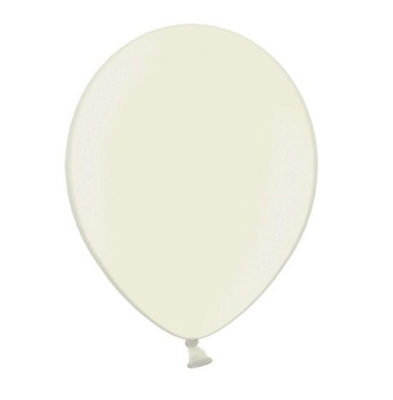 100 Ballons Metallic Elfenbein 35cm