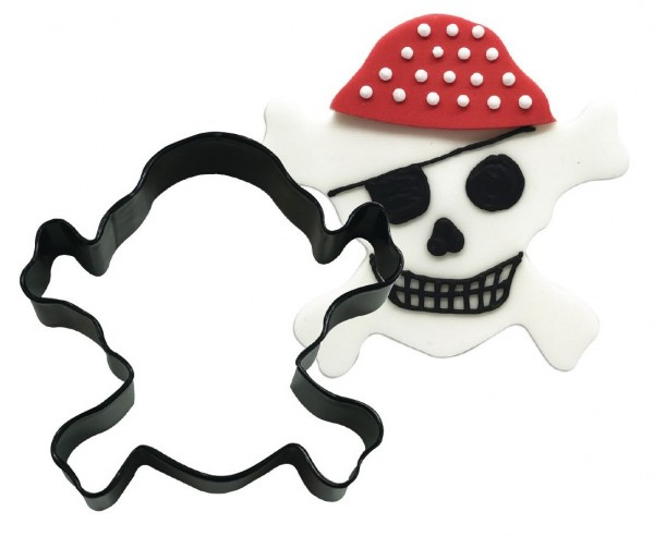 Piratenschedel uitsteekvormpje 8,9cm