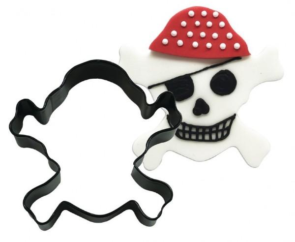 Emporte-pièce crâne de pirate 8,9 cm