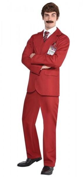 Costume Ron Burgundy pour homme