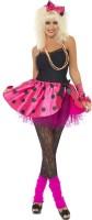 80er Pink Punk Party Damenkostüm Set