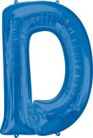 Folienballon Buchstabe D blau XL 81cm