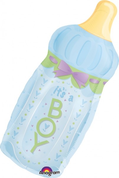 Baby bottle boy balloon