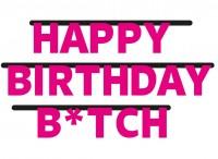 Birthday Bitch Girlande 3m