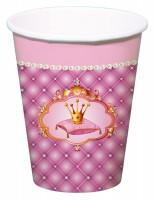 6 Prinzessinnenkrönchen Pappbecher 250ml