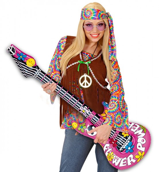 Inflatable flower power guitar