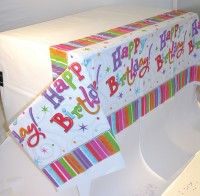 Colourful Birthday Tischdecke 2,59 x 1,37m