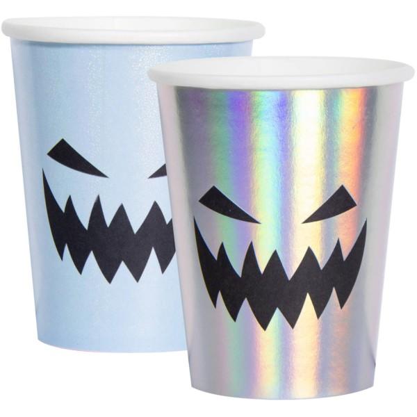 6 Spuknacht pastel papir kopper 250 ml