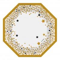 6 platos de papel Golden Wishes 18cm
