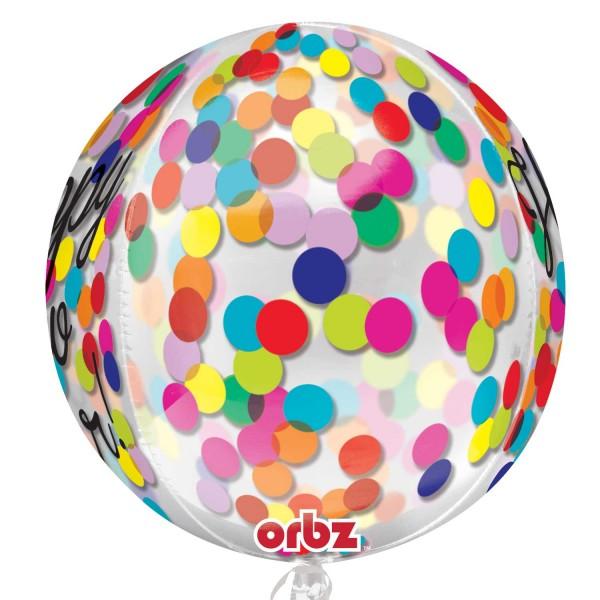 Ballon ballon bonne année confettis pluie 40cm