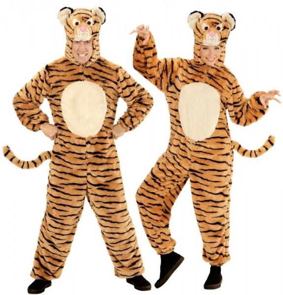 Costume de tigre en peluche unisexe