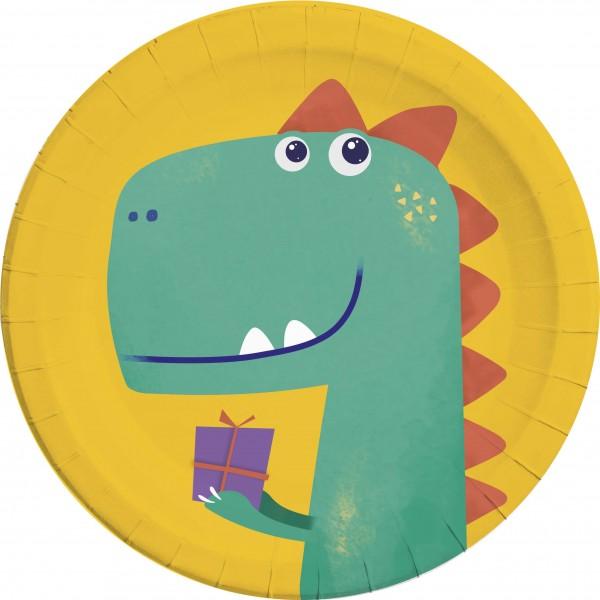 8 assiettes anniversaire Dino 23cm