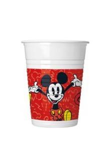 8 super coole Becher Micky Maus