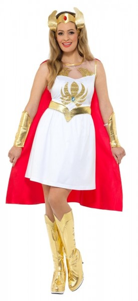 Glitzerndes She-ra Kostüm für Damen