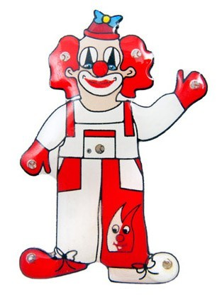 Blinkender Köln Fan Clown Pink
