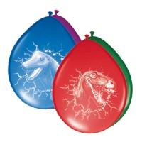 6 Dino Abenteuer Ballons 30cm