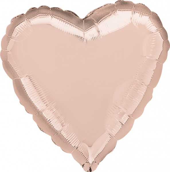 Heart balloon rose gold 43cm
