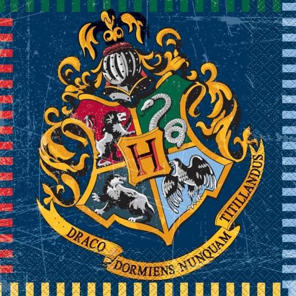 16 Harry Potter Zweinstein servetten 33 cm