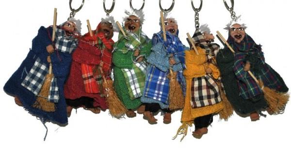 Halloween witch keychains 6 pieces