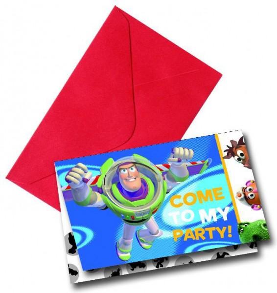 Toy Story Power Einladungskarten 6er Pack