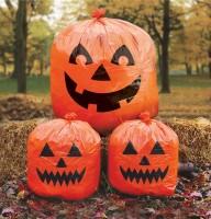 Lustiges Halloween Kürbis Gartendeko Trio