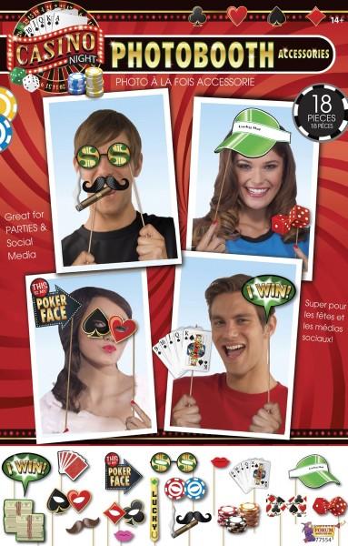 18 Casino-Sticks Für Partyfotos